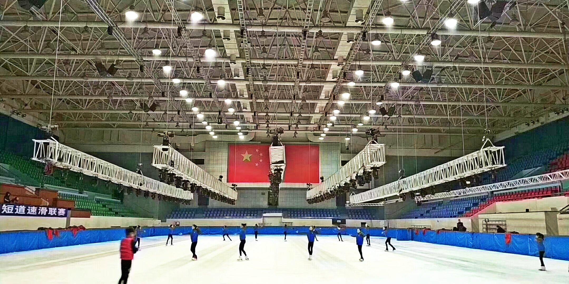 虚拟仿真案例:华光昱能Hangalaxy4K光纤线为黑龙江冰上基地国家级项目增光彩